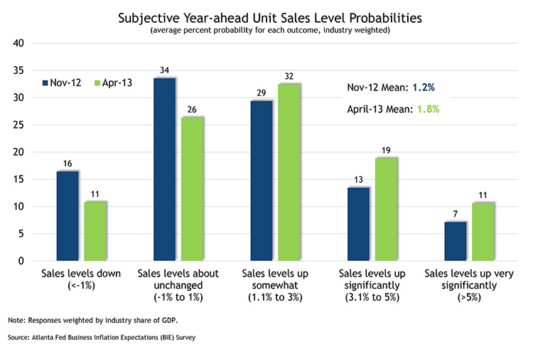 Subjective Year-ahead Unit Sales Level Probabilities